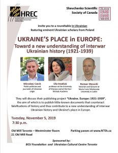 Ukraine's Place in Europe: Toward a new understanding of interwar Ukrainian history (1921-1939)