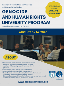 HREC Fellowship to Attend the 2020 Genocide and Human Rights University Program