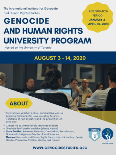 Main image HREC Fellowship to Attend the 2020 Genocide and Human Rights University Program