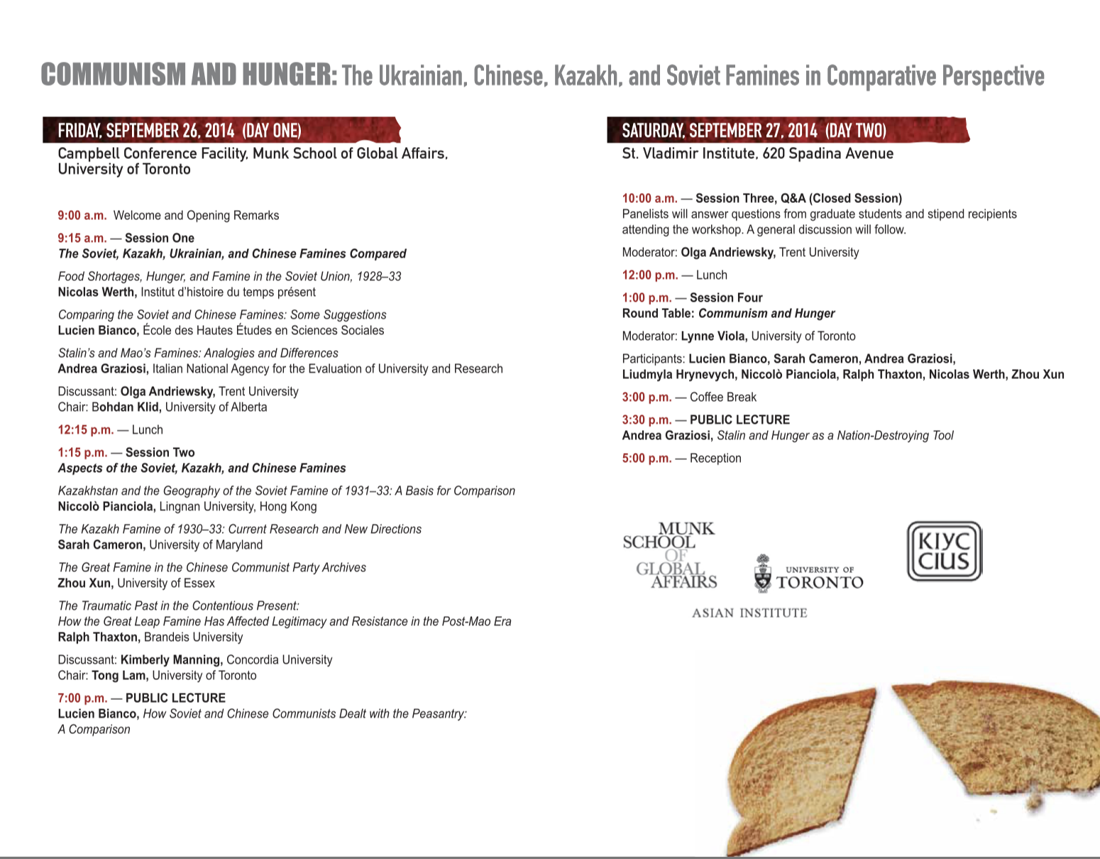 Communism and Hunger: The Ukrainian, Chinese, Kazakh, and Soviet Famines in Comparative Perspective