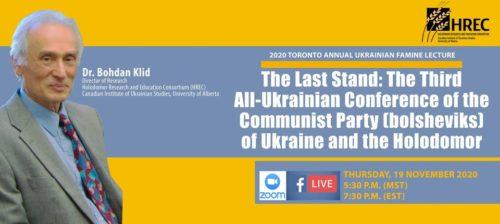 Main image 2020 Toronto Annual Ukrainian Famine Lecture – Online