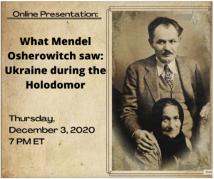 Lubomyr Luciuk   What Mendel Osherowitch saw: Ukraine during the Holodomor