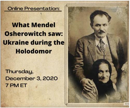 Main image Lubomyr Luciuk | What Mendel Osherowitch saw: Ukraine during the Holodomor